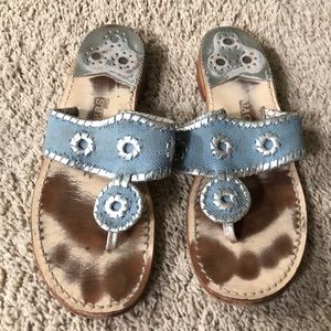 Light Blue and Silver Jack Rogers Size 8.5